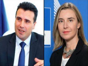 Darka e kryeministrave  Mogherini fton në Bruksel edhe Zoran Zaev