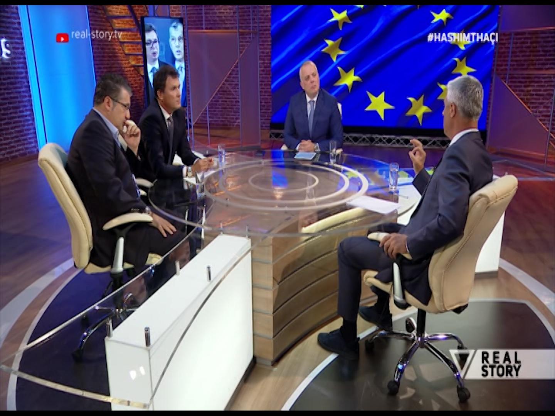 Presidenti Thaçi në Real Story  Tregon  kufijtë   veriu nuk preket