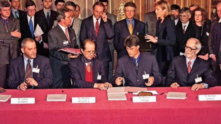Kujtohet Marrëveshja e Rambujesë  Thaçi kërkon bashkimin e politikës
