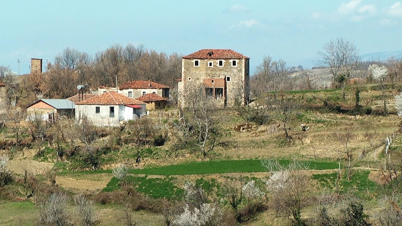 Kullat e fshatit Kurdari në Klos që presin të kthehen në bujtina