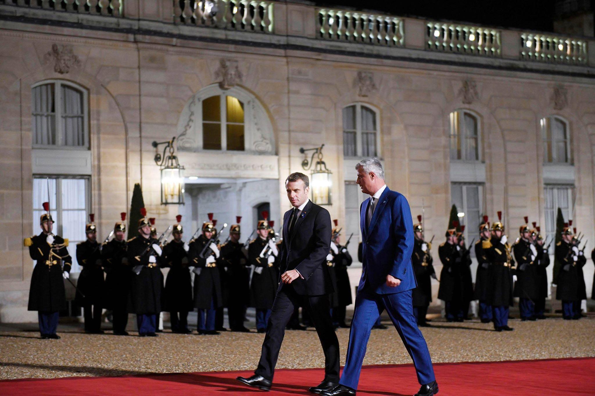 Thaçi takon Macron  Kosova e gatshme për marrëveshje paqësore me Serbinë