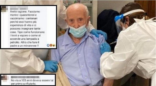 103-vjeçari bën vaksinën/ Shpërthejnë polemikat në rrjet: Një dozë e shkuar dëm, ta refuzonte