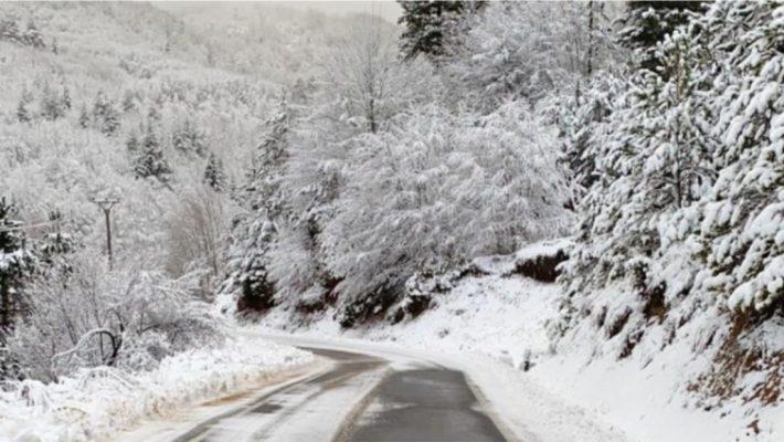Reshje dëbore në Korçë