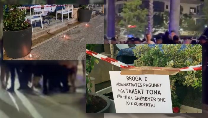 Pronarët e bizneseve në Vlorë sërish në protestë: Këto janë kërkesat tona