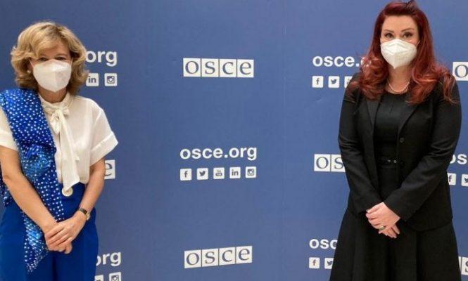 Liria e medias/ Kryetarja e AMA-s Krasniqi takon Përfaqësuesen e Lartë për Lirinë e Medias në OSBE
