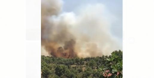 Zjarr i fuqishëm edhe në Mamurras, në rrezik banesat