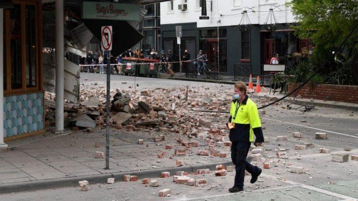 Pamje-Tërmet i fuqishëm në Australi/ Njerëz të alarmuar dhe ndërtesa të rrëzuara