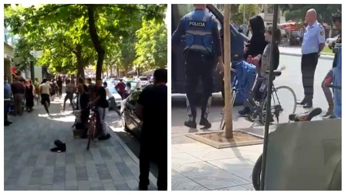 Ndalohet furgoni me klandestinë në Pogradec, emigrantët largohen me vrap sapo shohin policinë