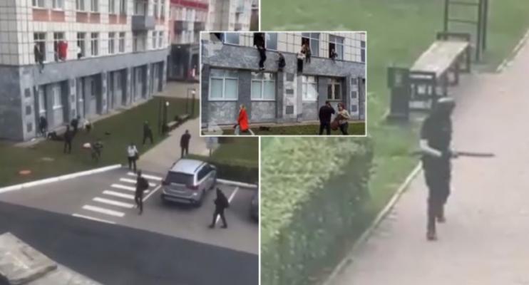 Pamje dramatike nga Rusia/ Studentët hidhen nga dritaret për t'i shpëtuar të shtënave