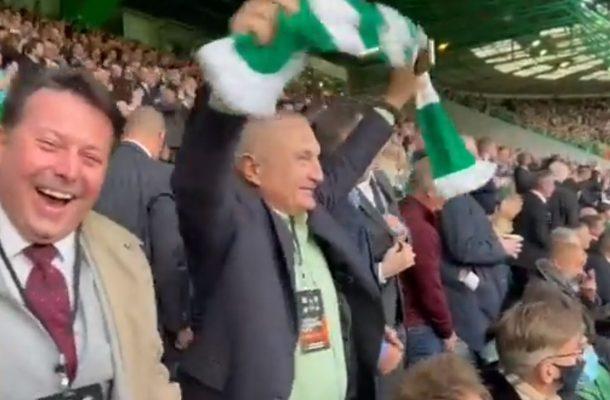 """VIDEO/ Meta """"fluturon"""" drejt Skocisë, feston fitoren e Celtic mes ultrasve"""